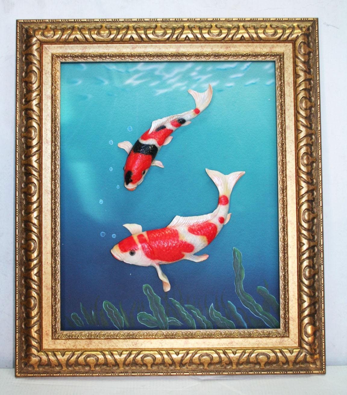Japanese koi carp picture 3d koi gifts ornaments bjs for Japanese pond ornaments