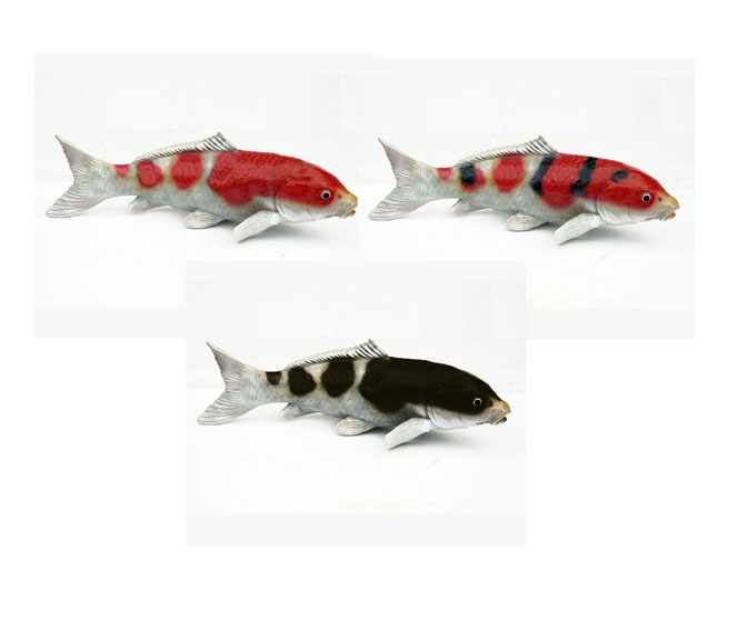 Koi statues outdoor koi gifts ornaments bjs japanese for Koi fish ornament