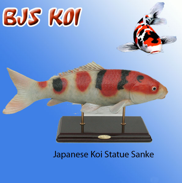 Koi statues on stand koi gifts ornaments bjs for Koi fish food for sale